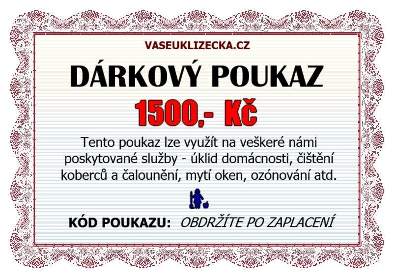 Dárkový poukaz na 1500,- Kč.