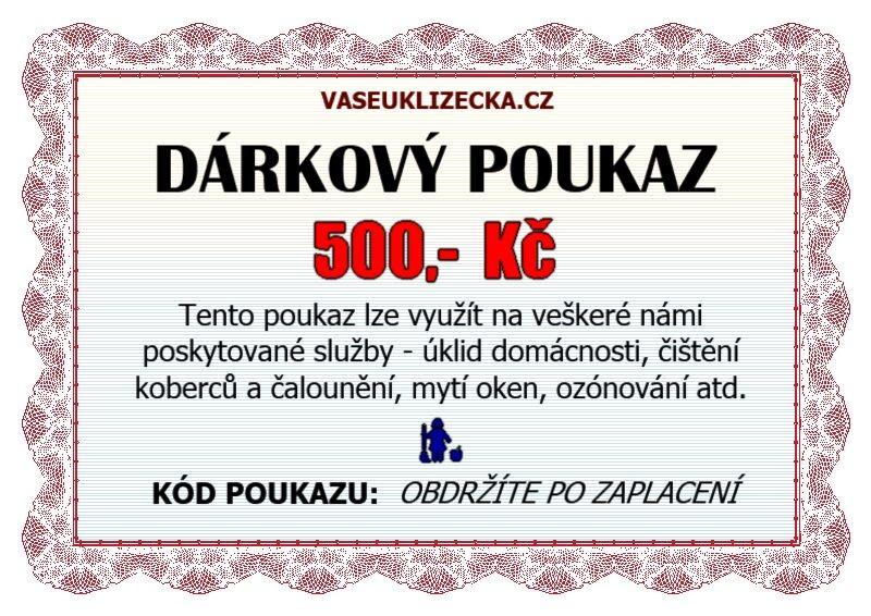 Dárkový poukaz na 500,- Kč.