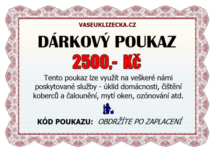Dárkový poukaz na 2500,- Kč.